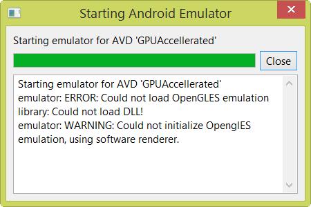 OpenGLES error