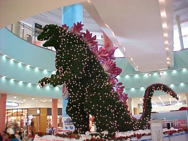 Merry Christmas from Godzilla